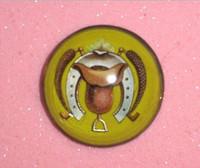 Antique Art Deco Design Bridle Rosette Pin