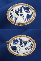 Antique Carriage and Horse Depose Pin Brooch
