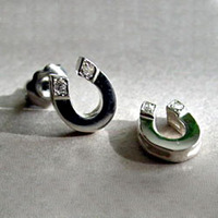 Handmade Sterling Silver Horseshoe Stud Earrings