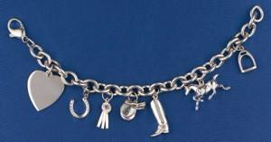 Have A Heart Silver Charm Bracelet. Bracelet only.