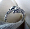 Maxi Sterling Silver Double Horse Head Ring