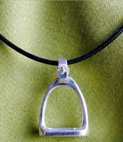 Medium Sterling Silver Handmade Stirrup Pendant