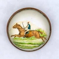 Original Horse and Rider Bridle Rosette as Pin Brooch