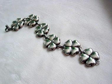 Rare Georg Jensen Four-Leaf Clover Bracelet