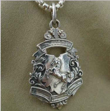 Rearing Horse Fob with Chain Pendant Necklace
