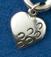 "Sterling silver ""Hoofprints on Your Heart"" Charm or Pendant"