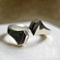 "Sterling Silver ""Twist"" Horseshoe Nail Ring"