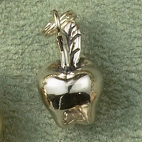Sterling Silver Apple Charm or Pendant