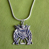 Sterling Silver Art Deco Equestrian Motif Pendant Necklace