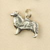 Sterling Silver Australian Shepherd Dog Charm or Pendant.