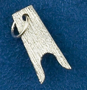 Sterling Silver Boot Jack Charm or Pendant.