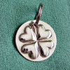 Sterling Silver Bridle Tag or Halter Tag with 4-Leaf Clover