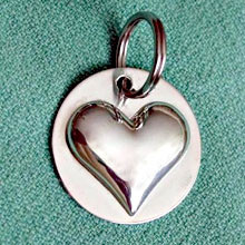 Sterling Silver Bridle Tag or Halter Tag with Heart