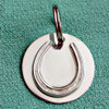 Sterling Silver Bridle or Halter Tag with Horseshoe