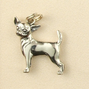 Sterling Silver Chihuahua Charm or Pendant