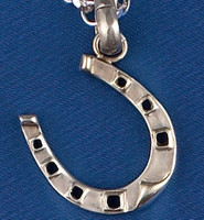 Sterling Silver Chunky Horseshoe Charm or Pendant