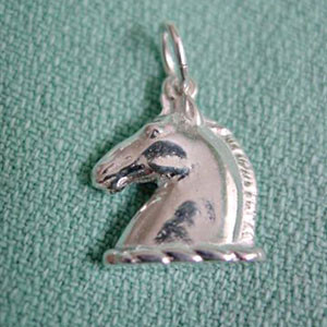 Sterling Silver Classic Horse Head Charm or Pendant