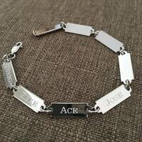 Signature Sterling Silver Custom Nameplate Bracelet