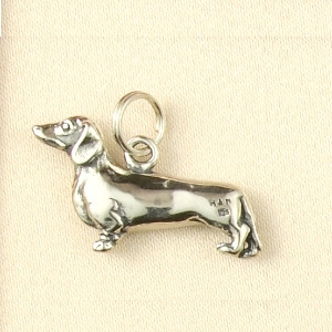 Sterling Silver Dauschund Charm or Pendant
