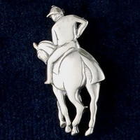 Sterling Silver Degas Horse Pin