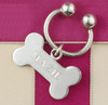 Sterling silver dog bone key chain