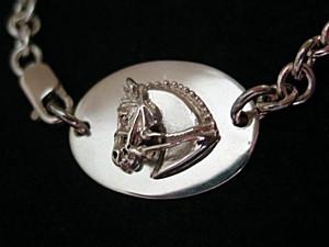 Sterling Silver Dessage Horse Bracelet