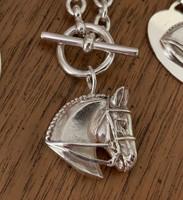 Sterling silver Dressage Horse Necklace