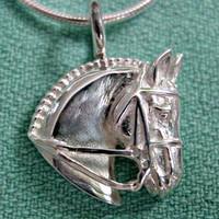Sterling Silver Dressage Horse Pendant