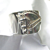 Sterling Silver Dressage Horse Ring