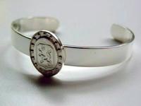 Sterling Silver Dutch Warmblood Breed Bangle Bracelet