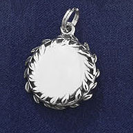 Sterling Silver Engraveable Disc Charm or Pendant