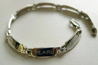Sterling Silver Handmade Nameplate Bracelet