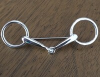 Sterling Silver Handmade Snaffle Bit Stock Pin