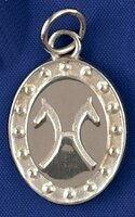 Sterling Silver Hanoverian Breed Charm or Pendant