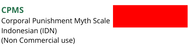 CPMS (Corporal Punishment Myth Scale) Non Commercial (IDN)