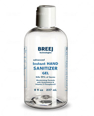 BREEJ INSTANT HAND SANITIZER, 8 fl oz  [ALCOHOL 80% V/V]  Moisturizing Formula with Guaiazulene and Vitamin E (Tocopherol)