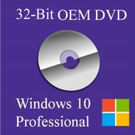 Microsoft Windows 10 Pro 32-Bit DVD
