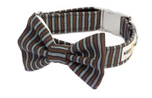 Clasp Collar with Bow Tie [Herringbone]