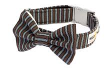 Clasp Collar with Bow Tie [Herringbone]