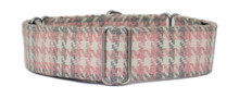 Martingale Collar [Tweed Hounds Tooth Pink]
