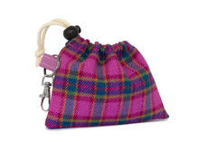 Noddy & Sweets Poop / Treat Bag [Tartan Pink]