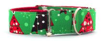 Martingale Collar [Xmas Trees Green]