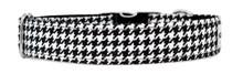 Metal Clasp Collar [BW Dog Tooth]