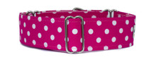 Martingale Collar [Polka Dots Pink]