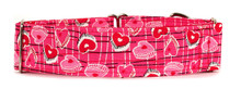 Martingale Collar [Love Hearts Pink]