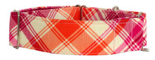 Martingale Collar [Dewberry Tartan Orange]