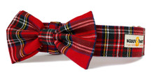 Martingale Collar with Bow Tie [Classic Tartan]