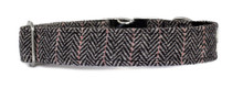 Metal Clasp Collar [Herringbone Tweed BW]