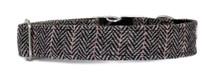 Metal Clasp Collar [Herringbone Tweed BW]