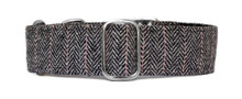 Martingale Collar [Herringbone Tweed BW]